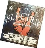 E-Gitarren-Saiten - Nickel-Saiten für Ihre E-Gitarre - 6-Saiten-Set - TOP Klang für Ihre E Gitarre - 1 komplettes Set