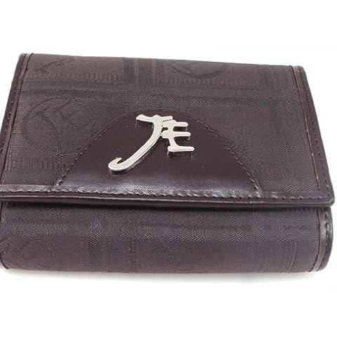 Portafogli 'Jacques Esterel' cioccolato marrone. - Monogram Cuore