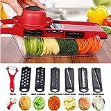 WEKNOWU Schäler, Magic Trio Peelers Set von 3 Obst & Gemüse Kitchen Starter Kit (Gemüsehobel)