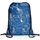 style3 Thousand Sunny Borsa da spalla sacco sacchetto drawstring bag gymsac pirati di cappello di paglia