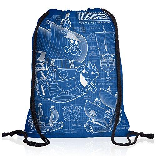 Mochila Escolar One Piece Azul