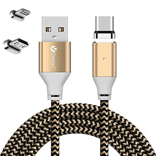 UGI 3IN1 Magnetisches Ladegerät Typ C Kabel + Micro USB Kabel + Ladekabel für iPhone (Motorola Iphone 5 Auto-ladegerät)