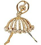 Ruikey donne eleganti strass ragazza balletto spilla da sposa Piscarves scialle Corsage clip