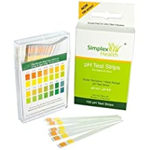 Simplex Health pH Test Strips pH 4.5 - pH 9.0 for Urine and Saliva with Dual Pad (100 Strips)