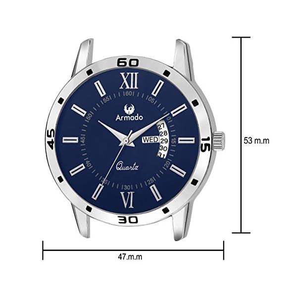 Armado Analogue Blue Dial Men's Watch - Ar-101-Blu