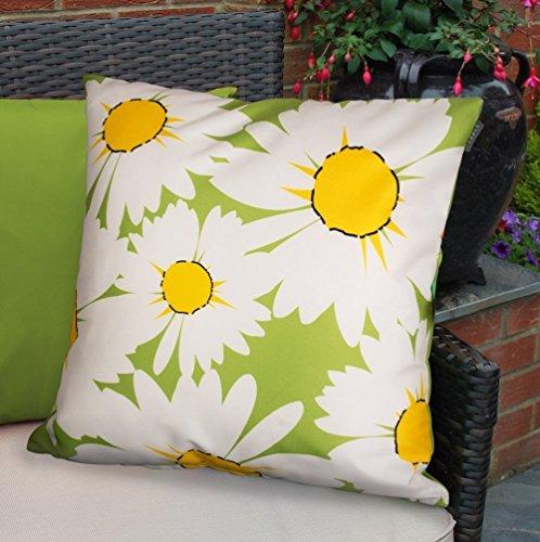 Bean Bag Bazaar Wasserdicht polsterfüllung Outdoor Auflage für Garten Stühle und Bänke–Lime Daisies