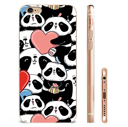 IPHONE 6s Hülle Panda Silikon TPU Schutzhülle Ultradünnen Case für iPhone 6/6s panda28-1