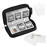ECO-FUSED Memory Card Carrying Case Nero custodia per scheda di memoria