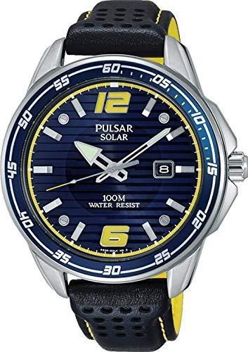 Pulsar Herren Analog Quarz Uhr mit Kautschuk Armband PX3091X1 - Pulsar-kautschuk-armband-uhr