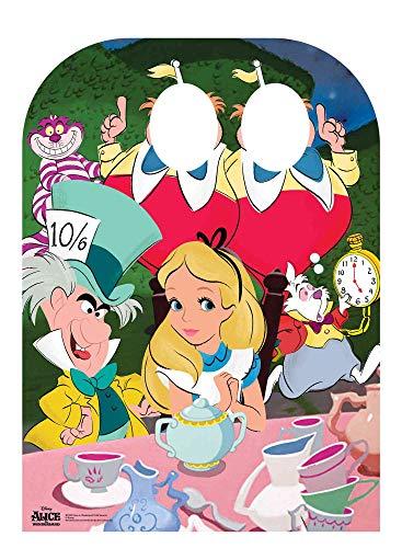 Disney Alice im Wunderland Teeparty Kinder Aufsteller Pappe Mehrfarbig, 131 x 95 x 131 cm