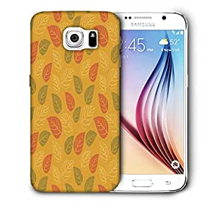 Snoogg Red And Green Leaves Yellow Pattern Printed Protective Phone Back Case Cover For Samsung Galaxy S6 / S IIIIII