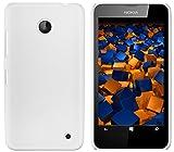 mumbi Schutzhülle für Nokia Lumia 630/635 Hülle (harte Rückseite) matt weiss
