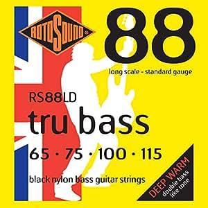 rotosound black nylon standard gauge flatwound bass strings 65 75 100 115. Black Bedroom Furniture Sets. Home Design Ideas