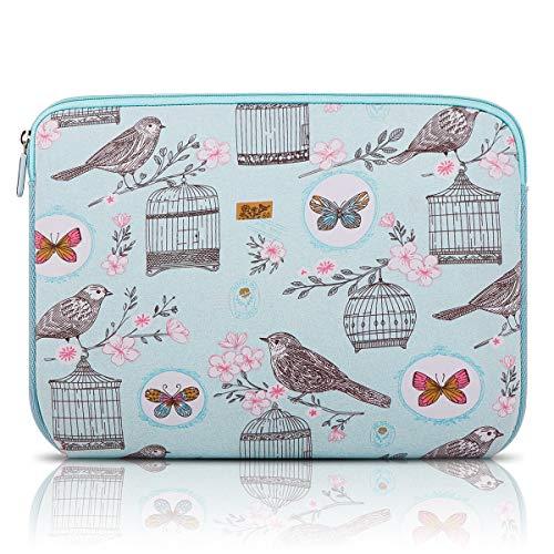 Arvok 11 11,6 12 Zoll Laptoptasche Schutzhülle Wasserfest Neoprene, Blauer Vogel