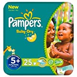 Pampers Baby Dry Größe 5 + (13-27kg) Carry Pack 6 pack x 25 pro Packung