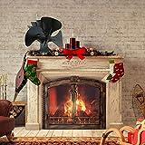 NAKELUCY Ventilatore da Camino a 4 Pale Ventilatore da Stufa a Legna per bruciatore a Legna/Ceppo/Camino, Materiale in Acciaio, Ecologico, Silenzioso (Nero) approving