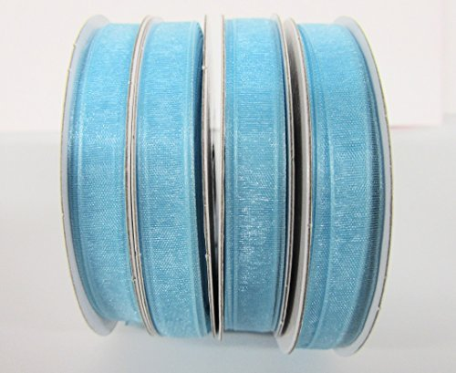 25 yards Spool Sheer Organza 3/8 Ribbon 9mm/Craft/wedding OR38-Baby Blue US Seller Ship Fast by www.embellishmentworld.com -
