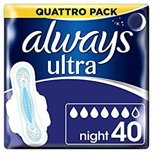 Always Ultra Night Hygiene-Binden mit Flügeln