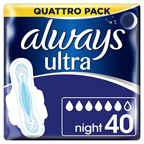 Always Ultra Night Hygiene-Binden mit Flügeln 4 (4x 10)