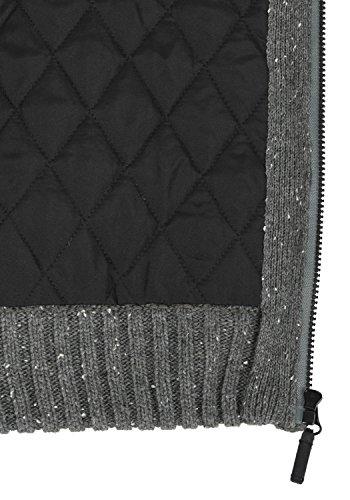 BLEND Stuber Herren Übergangsjacke Strickjacke Cardigan mit Stehkragen aus hochwertiger Materialqualität Pewter Mix (70817)