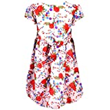 Toddla Red Georgette Balloon Shape Dress...