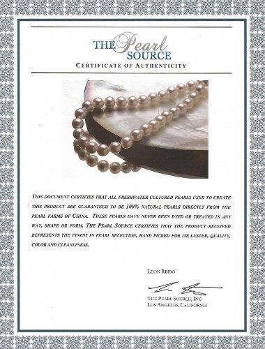 2 Reihiges Perlenarmband Süßwasser Zuchtperlen – Weiß AAA Verschluss Gelbgold - 5