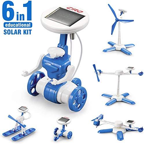 CIRO Solar Roboter 6 in 1 Lernspielzeug 6 Verschiedene Modelle Solar Experiment für Jungen und Mädchen