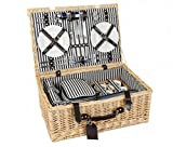 Greenfield Collection Cheltenham Willow Picnic Hamper for Four People with Matching Blanket