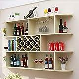 Zhengowen HO Estantería De Vino Moderna Minimalista de Pared gabinete del Vino Vino Estante de la Pared del Estante del Vino Rombo Celular Restaurante Montado Completamente Estante del Vino