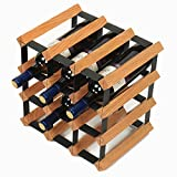 Weinregale 12-Flaschen-stapelbare Countertop-Anzeigen-Speicher-Regal-Freie Stellung für Küche, Stab, Weinkeller, Keller, Kabinett, Pantry (Farbe : Primärfarbe)