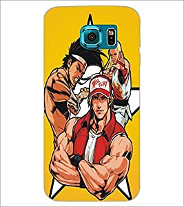 PrintDhaba Heroes D-5383 Back Case Cover for SAMSUNG GALAXY S6 EDGE (Multi-Coloured)