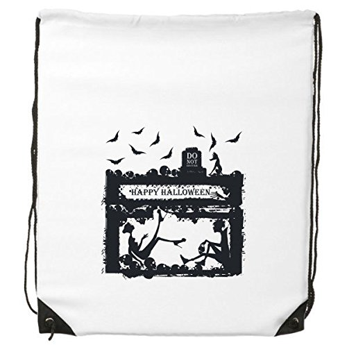 DIYthinker Halloween-Rucksack mit Krähenmotiv für Menschen mit Horrible Geister-Illustration, feine Linien, Einkaufen, Kreative Handtasche, Schultertasche, umweltfreundliches Polyester (Linien Krähen)