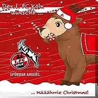 Premium Schoko-Adventskalender – Der lustige Weihnachts-Countdown aus Fairtrade-Kakao + Mannschaftsposter (200 g) (1. FC Köln)