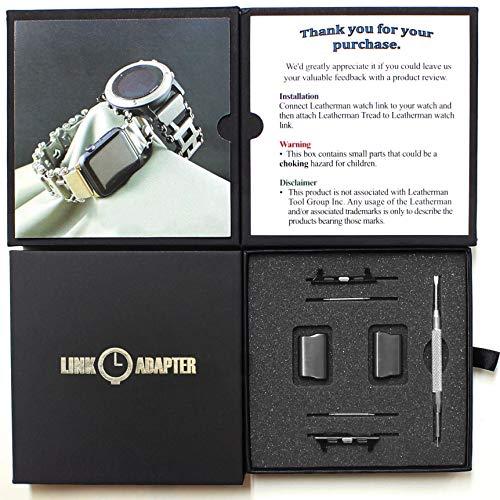 Link Edelstahl-Verbindungsadapter für Leatherman-Laufflächenuhr Treten Apple-Uhr 44mm / 42mm -