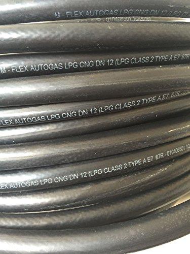 Preisvergleich Produktbild LPG Autogas Schlauch Gasschlauch Gasleitung 12mm Rolle 50m