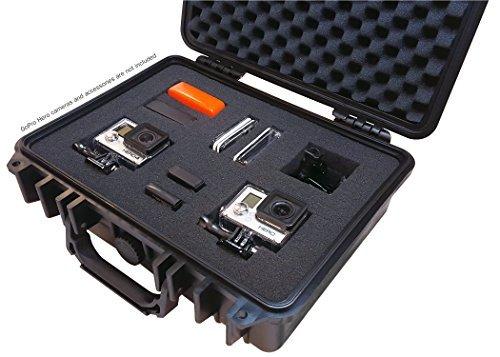 Ibex Cases-Noir étanche GoPro Hero et accessoires Coque rigide robuste avec mousse personnalisables (Ic-1300bk)