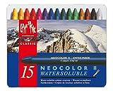 Caran d´Ache 7500.315 Neocolor II Kreiden Metalletui mit 15 Farben