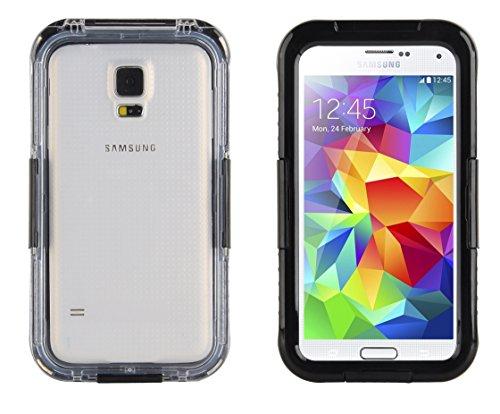 JAMMYLIZARD | Cover custodia SALAMANDER Impermeabile Waterproof per Samsung Galaxy S3 e S3 Neo, S4, S5 e S5 Neo, NERO