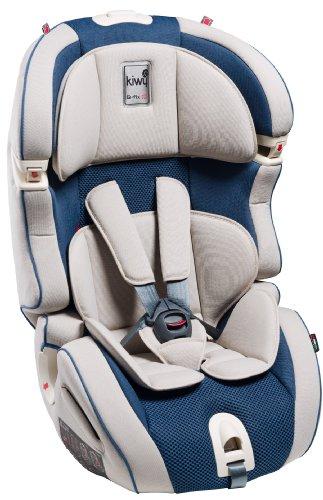 Kiwy 14103KW06B Kinderautositz SLF123 Q-Fix, Gruppe 1/2/3, 9/36 KG mit Q-Fix Adapter für Isofix, ECE R44/04, ocean