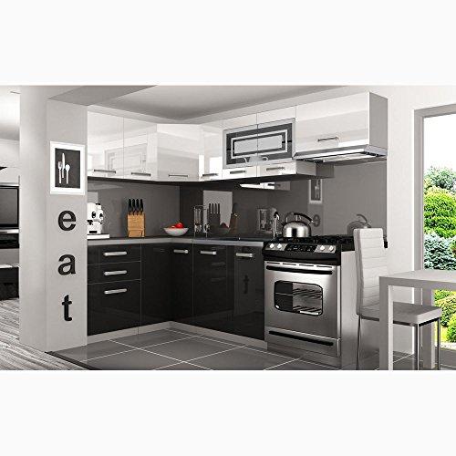 JUSThome Lidja P Pro L-Küche Küchenzeile Küchenblock 130×230 cm Länge große Farbauswahl