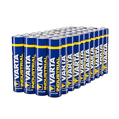 Varta Industrial Batterie AAA Micro Alkaline Batterien LR03-40er pack, Made in Germany
