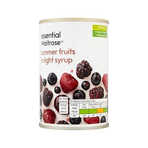 Fruits D'Été Au Sirop Essentiel 290G De Waitrose - Paquet de 6