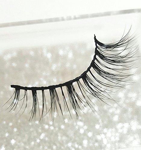 Luxilash DEMI FAUX CILS NATURELS DE LUXE en poils de vison sibérien faites à la main 100% sans cruauté | Incroyable double couche 3D | Réutilisables 25 x | Bandes naturelles | Mink Lashes