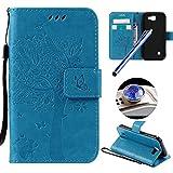 Etsue Brieftasche Hülle für LG K3 [Schmetterling Baum