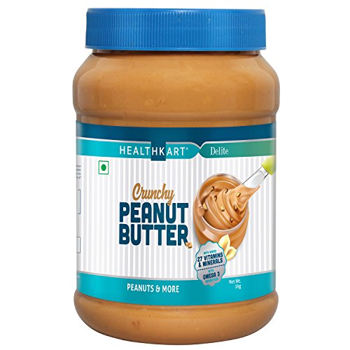 HealthKart Peanut Butter Fortified with Vitamins & Minerals Crunchy, 500g