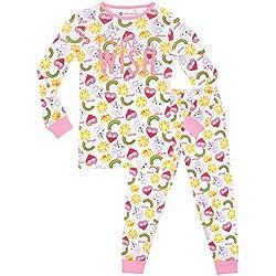 Emoji - Pijama para niñas - Emoji - Ajuste Ceñido - 12 - 13 Años