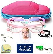 2 piezas Gafas Anti luz Azul para Gafas de Ordenador para niños, Niños Luz Azul Gafas de Bloqueo Anti Eyestrai