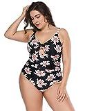 Bikini Damen sexy Schwarz Große Größen hohe Taille bauchweg sexy Badeanzug Damen Einteiler übergröße für Mollige Frauen Bademode sport Sommer Bikini set Vintage Strand