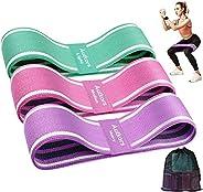 Autkors Elastici Fitness(3 Pezzi),Bande Elastiche di Resistenza Fasce Elastiche Fitness Antiscivoli in Tessuto