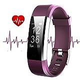 Montre Cardio HOTSO Moniteur de Sommeil Sport Fitness Tracker d'Activité - Bracelet avec Cardiofréquencemètre, Sommeil, Podomètre, Calories, Smart Alertes, Appareil photo à Distance pour iPhone et iOS